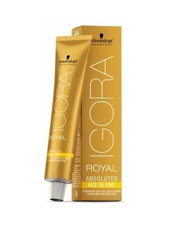Igora Absolutes Age Blend Tinte 8-01 Rubio Claro Natural Ceniza 60ml
