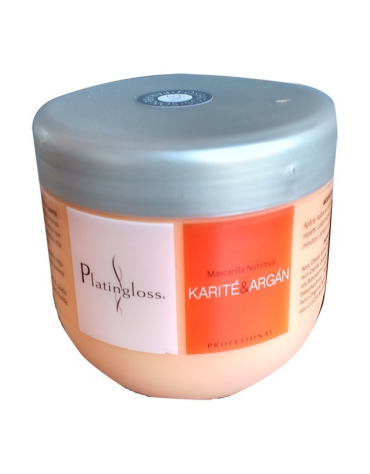 Mascarilla Karite¬Argan Platingloss 500Ml