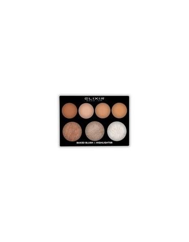 ELIXIR MAKE-UP Baked Blush & Highlighter Paleta de coloretes cocidos e iluminadores ref.897