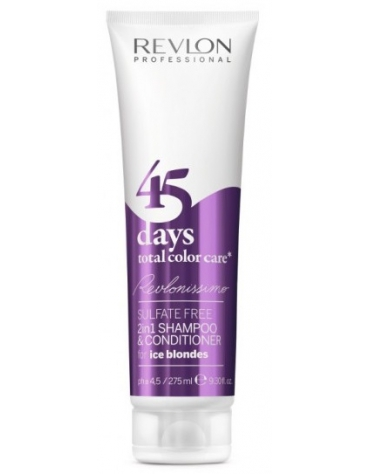 Revlonissimo 45 Days Champú 2en1 Total Color Care Ice Blondes 275ml