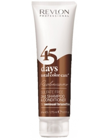 Revlonissimo 45 Days Champú 2en1 Total Color Care Sensual Brunettes 275ml